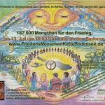 Friedensmenschenkette um den Bodensee am 13. Juli 2014